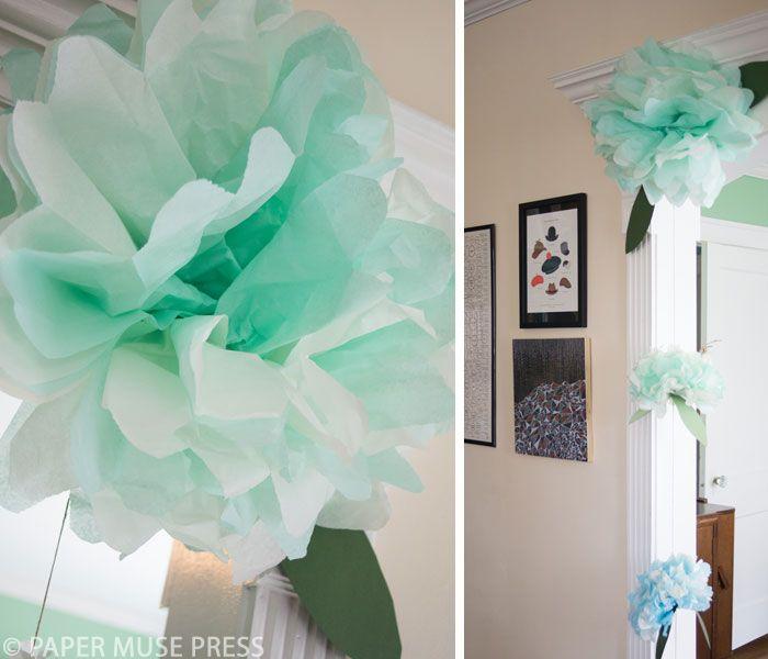 Paper Flower Decorations - Baby Shower Ideas