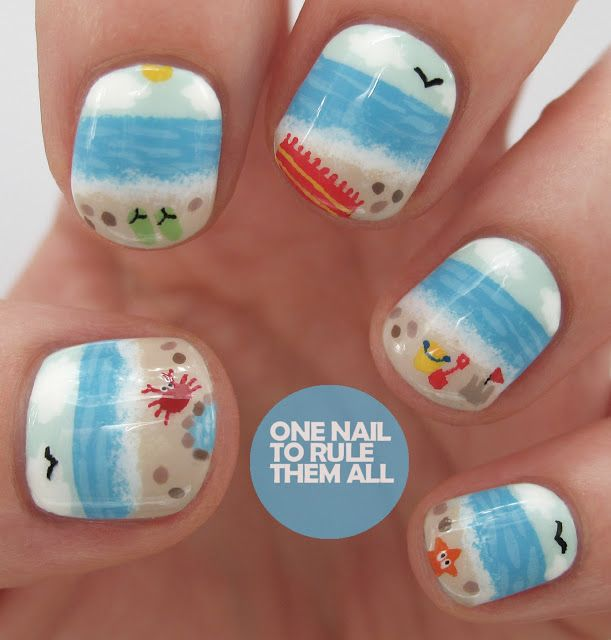 One Nail To Rule Them All: Beauty and the Beach 2 Competition - My Entry