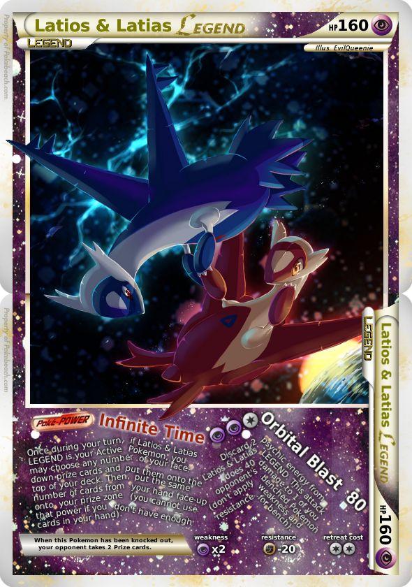 Printable Legendary Pokemon Cards Latios and Latias LEGEND by