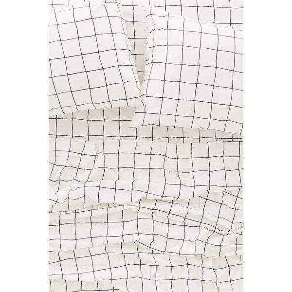Wonky Grid Sheet Set ($99) ❤ liked on Polyvore featuring home, bed & bath, bedding, bed sheets, king size sheet sets, king size cotton sheet sets, cotton pillowcases, king sheet set and king pillow cases