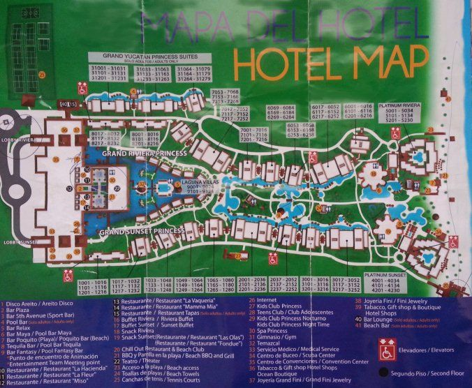 Map Layout Platinum Yucatan Princess Mexico Trip 2015 In