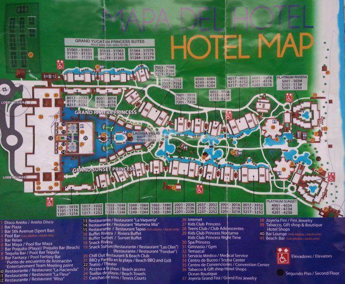 Map Layout Platinum Yucatan Princess   DIY projects ...