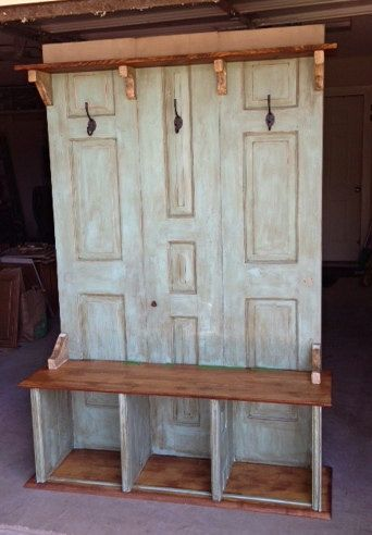 Custom Hall Tree - Coat Rack - Bench https://www.etsy.