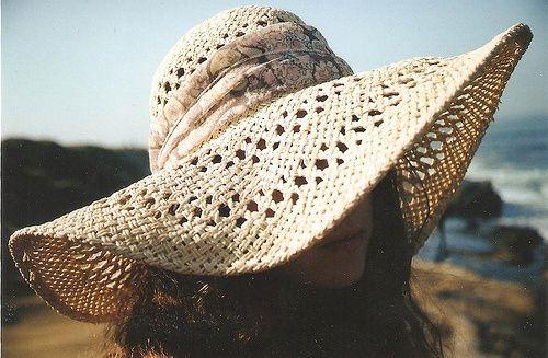 Floppy straw hats.