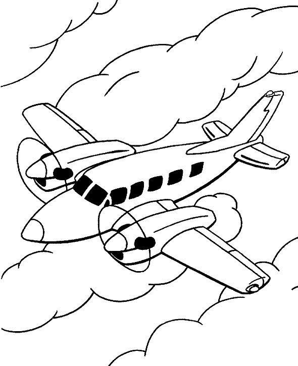 10 Desenhos De Avioes Para Colorir Em 2020 Com Imagens Aviao