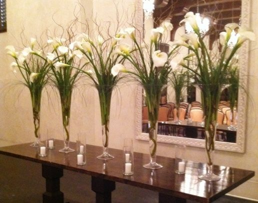Elegant White Calla Lily Centerpieces   Wedding Bouquets and Reception Flowers   The Studio at Cactus Flower, Scottsdale, AZ
