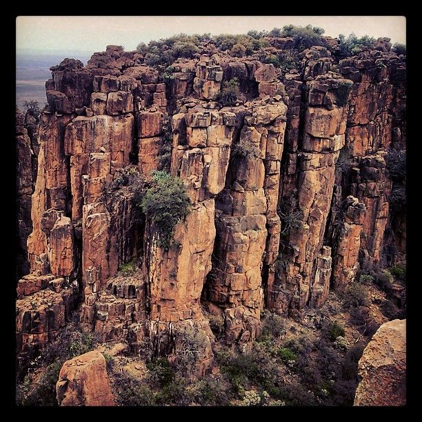 Beautiful rock formations in the Valley of Desolation in Graaff-Reinet