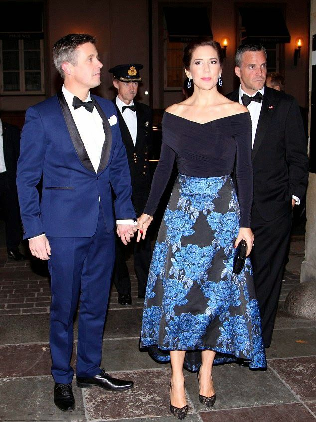 Crown Prince Frederik looked handsome in a navy suit with ...