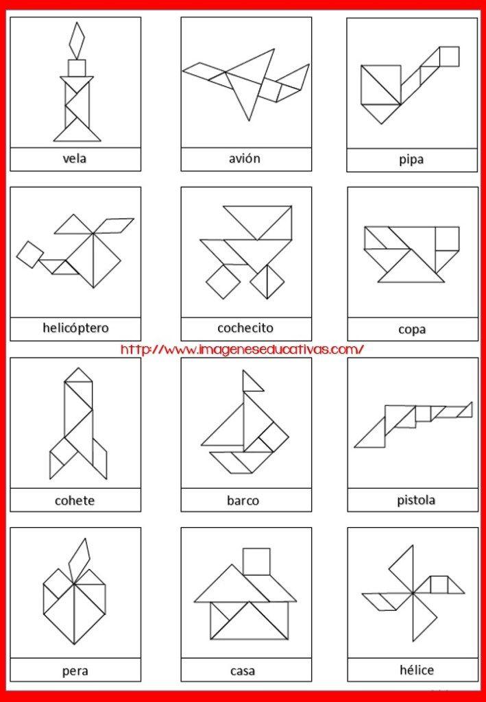 Tangram Figuras para imprimir plantillas incluidas | Regularizacion ...