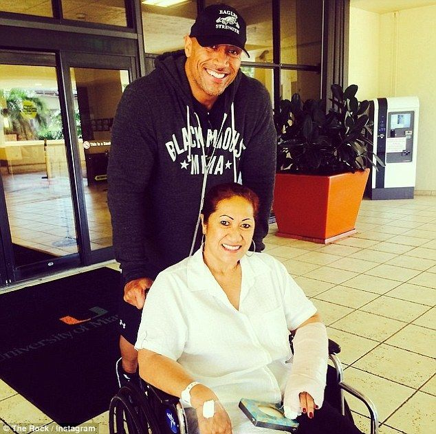 Photo of the rock with mother in wheel chair | Grateful': Dwayne 'The Rock' Johnson took his mother Ata home from ...