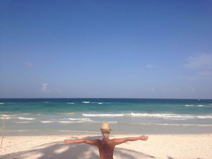L'ultimo giorno ce lo siamo goduti fino alla fine… Il nostro volo era all'una della notte e per arrivare in aereoporto a Cancun, la possibilità da Tulum è limitata all
