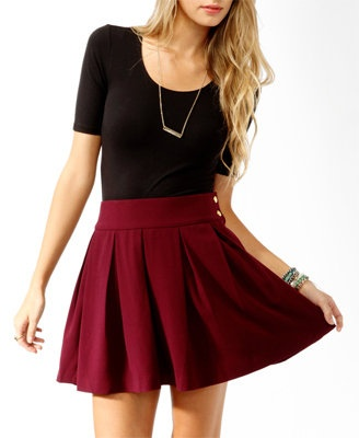 25  best ideas about Maroon skirt on Pinterest | H and m skirts ...