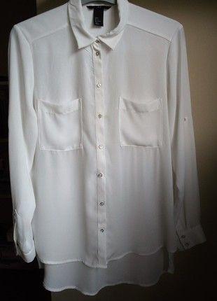 Kup mój przedmiot na #vintedpl http://www.vinted.pl/damska-odziez/koszule/13192822-biala-koszula-over-size-mgielka-hm