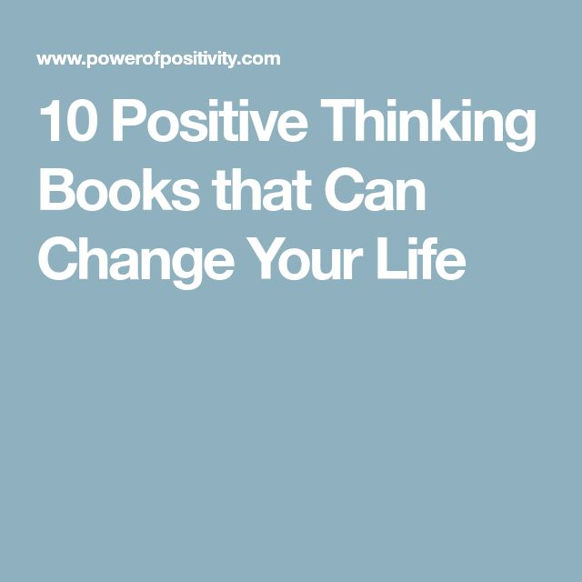 10 Positive Thinking Books that Can Change Your Life