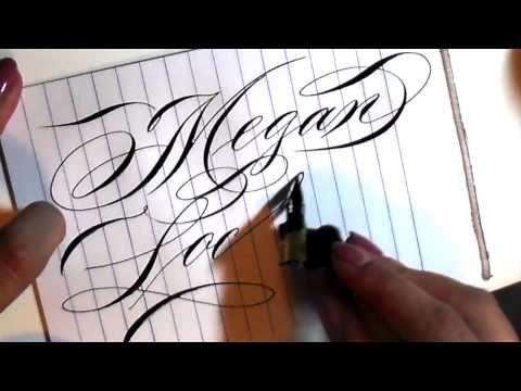 how to write in cursive (calligraphy) - months for beginners - YouTube
