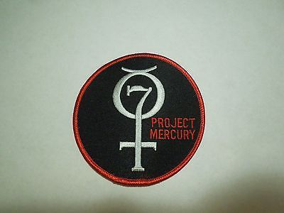 NASA Space Flight Program Mission Project Mercury 7 Embroidered Iron On Patch