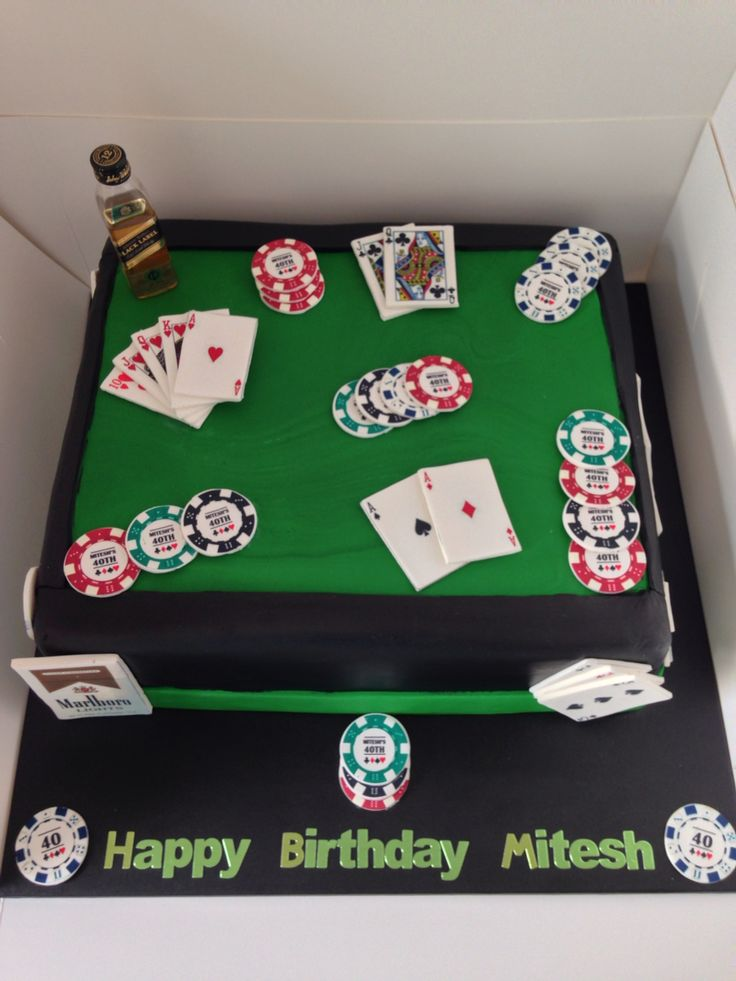 Casino Style Sheet Cake Toppers