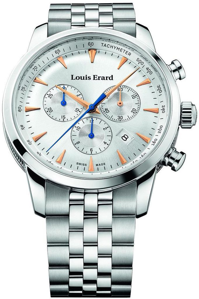 Louis Erard Watch Heritage Quartz Chrono #add-content #bezel-fixed #bracelet-strap-steel #brand-louis-erard #case-material-steel #case-width-42mm #chronograph-yes #date-yes #delivery-timescale-call-us #dial-colour-silver #gender-mens #luxury #movement-qua