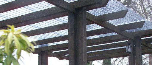 Gazebo, Corrugated PVC Canopy