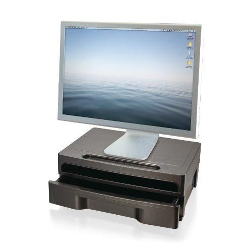 Officemate 2200 Series Monitor Stand with Drawer Black (22502)