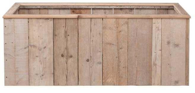 Langwerpige plantenbak om van #pallets of #steigerhout te maken.
