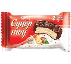 Печенье-сэндвич  «Супер-шоу»  в шоколадной глазури с кремом лесного ореха