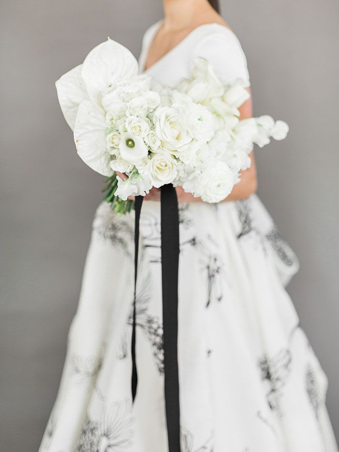A Fresh Take On A Black And White Wedding