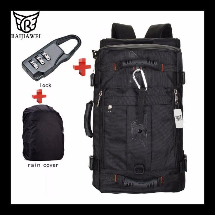 BAIJIAWEI Hot Sale Lock  Cover   Bag Laptop Backpack Men http://mobwizard.com/product/baijiawei-hot-sale-l32563306386/