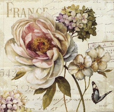 Decoupage MY TRUNK: THE GARDENS OF LISA AUDIT