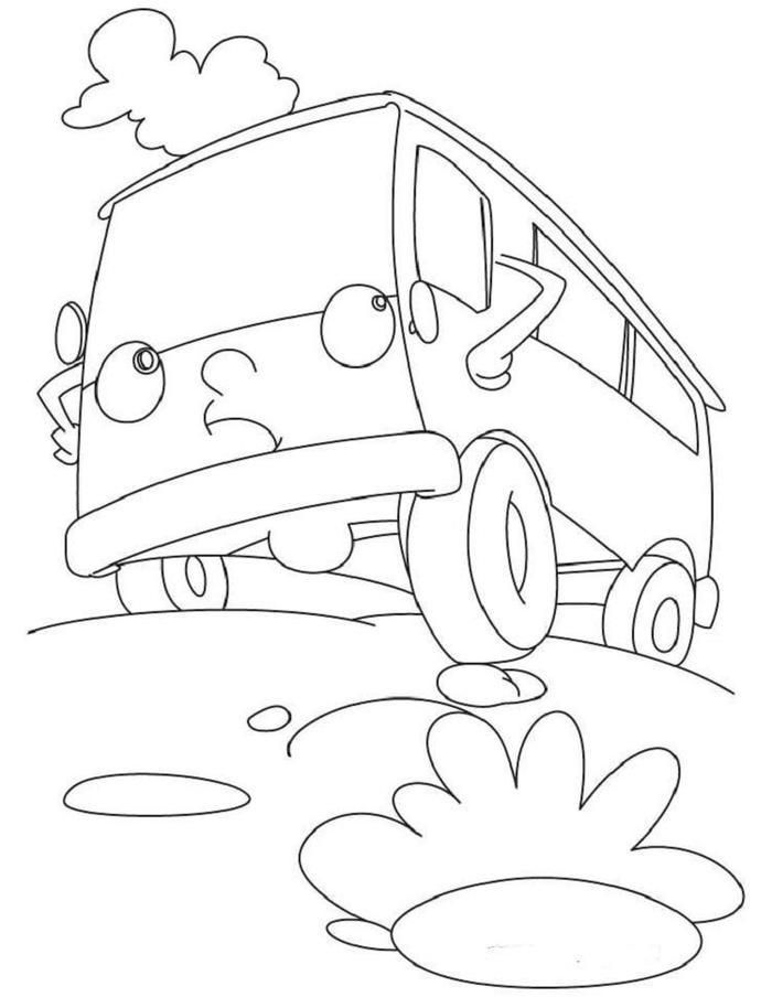 Cartoon Van Coloring Pages Coloring Pages Coloring Pages For Kids Elephant Coloring Page