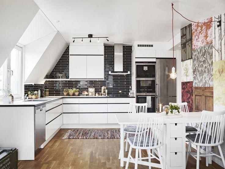 22 besten Wohnen Bilder auf Pinterest Dachgeschosse, Dachausbau - k che mit dachschr ge