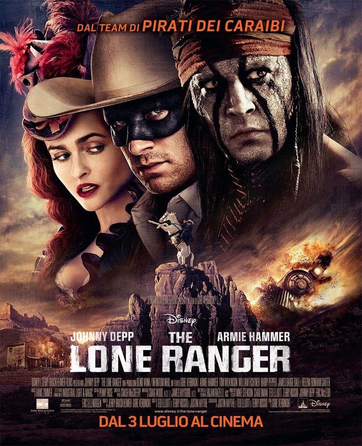 The Lone Ranger - The Lone Ranger è un film d'avventura intriso di azione e humour, in cui il famoso eroe mascherato torna a rivivere attraverso nuovi occhi. Il guerriero indiano Tonto (Johnny Depp) racconta la storia di John Reid (Armie Hammer), uomo di legge che divenne leggenda, trascinando il pubblico in un'avventura fatta di imprese epiche e rocambolesche, vissute dai due eroi impegnati nella lotta all'avidità e alla corruzione.