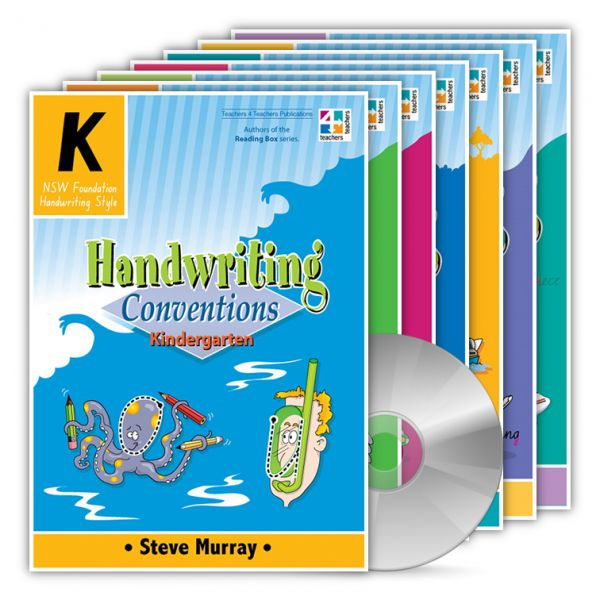 Handwriting Conventions NSW. Created by Steve Murray, a teacher with over 25 years experience and talented artist in his own right, these books have been designed to be easy to use by both teachers and students. http://www.educationstore.com.au/catalogue/english/handwriting-conventions-nsw