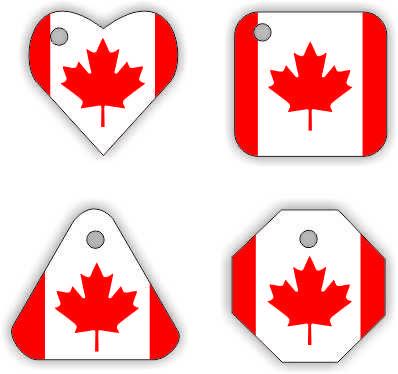 Canada Swap Tags from MakingFriends.com. #WorldThinkingDay, #Thinkingday, #swap, #canada