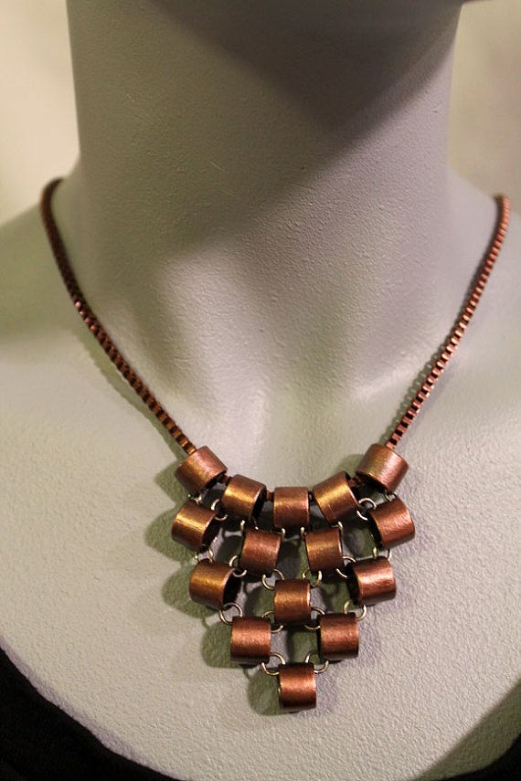 Chainmaille Inspired Recycled Copper Tubing by OnocleaStudios, $48.00