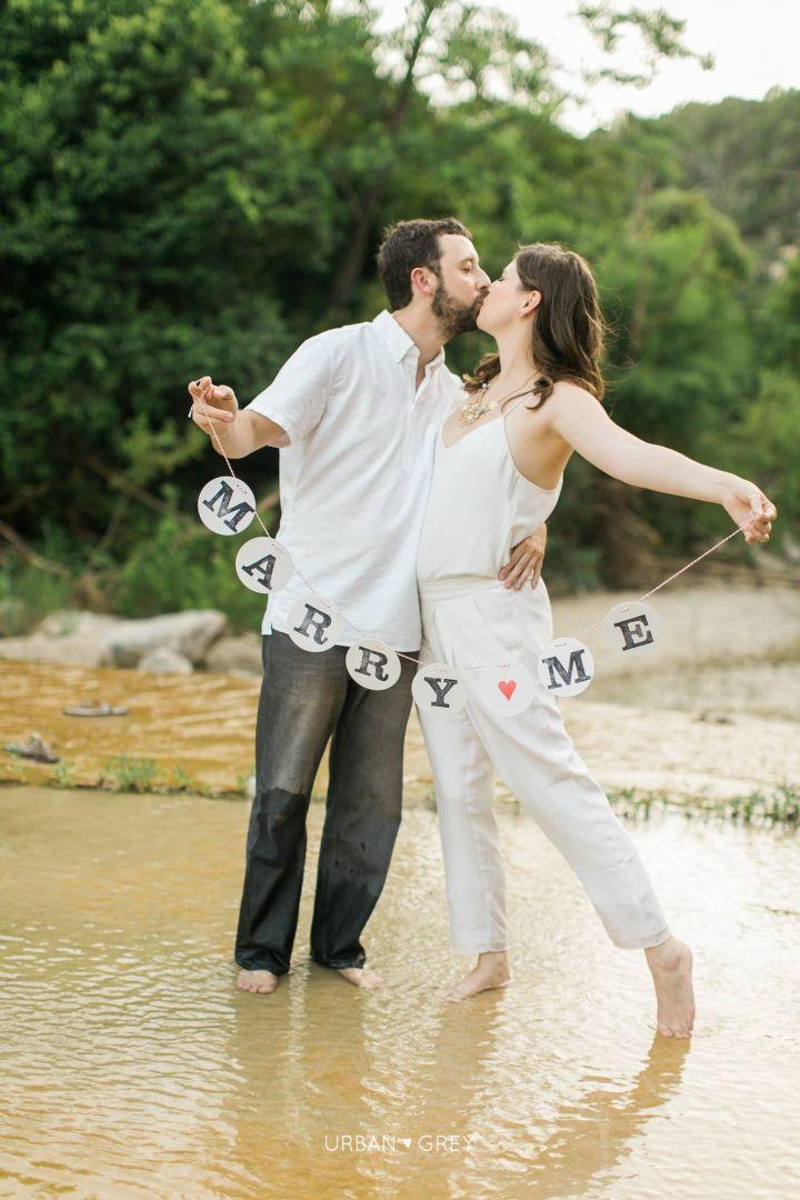 marry me bunting girlande engagement banner