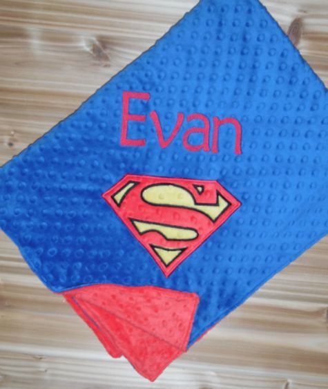 Classic Superman Baby Blanket
