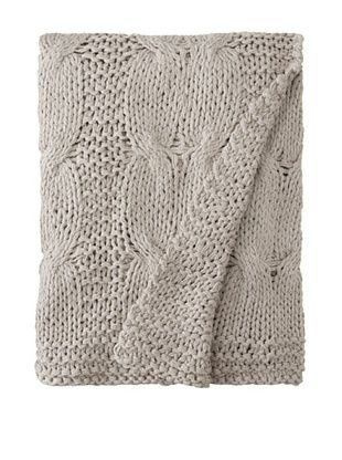 Amity Cable Knit Throw (Gray)