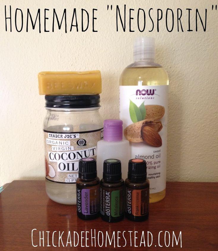 Homemade Natural Healing Balm (Neosporin) | Chickadee Homestead #naturalskincare