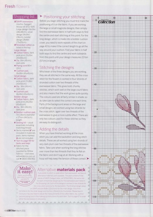 Cross-stitch Magnolia Moments, part 2... color chart on part 4... Gallery.ru / Фото #27 - Cross Stitch Collection 194 март 2011 - tymannost