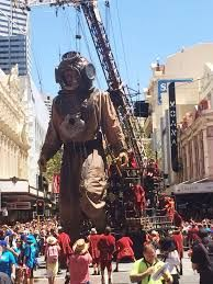 Hay Street, Perth Western Australia Feb 2015 Giant puppets - Google Search