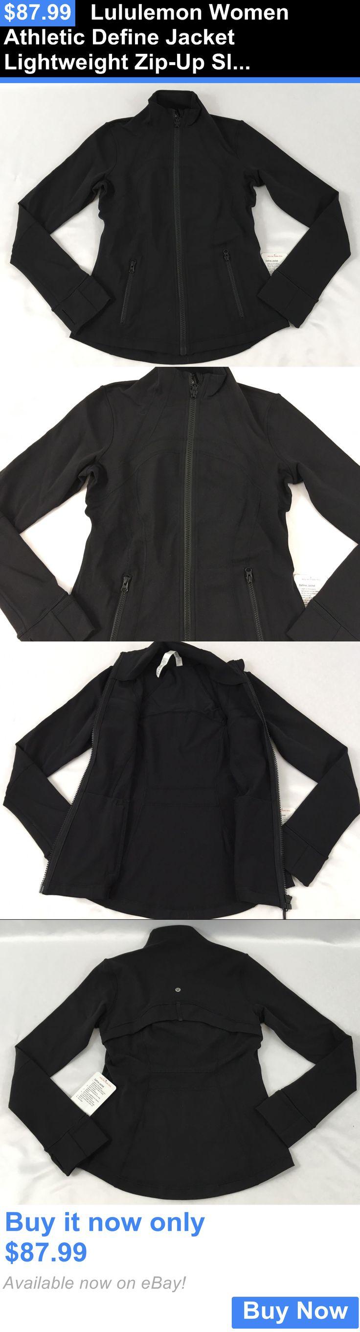 Women Athletics: Lululemon Women Athletic Define Jacket Lightweight Zip-Up Slim Fit Black Size 12 BUY IT NOW ONLY: $87.99