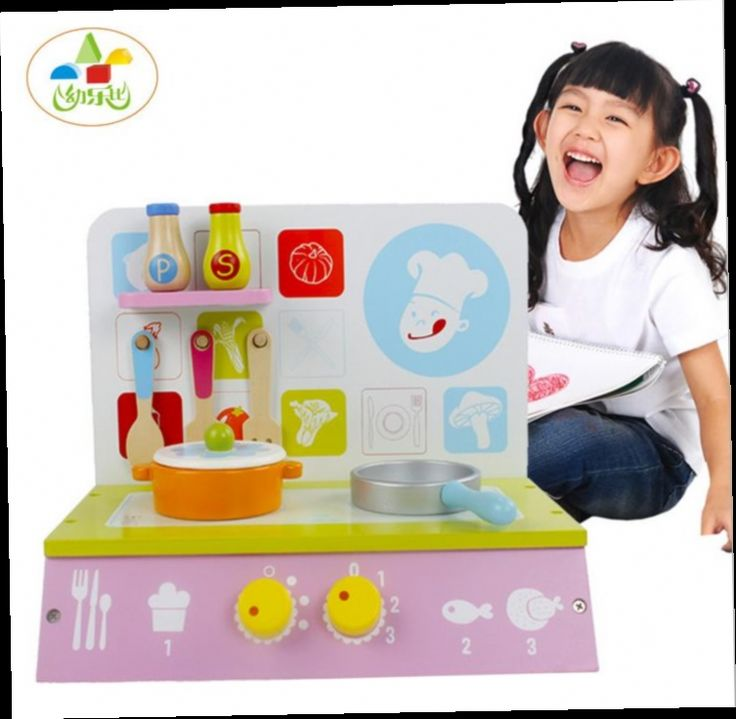 49.30$  Watch now - http://aliqqm.worldwells.pw/go.php?t=32607279585 - 2016 New Children wooden wooden kitchen toys with cooking bench and pot/  Big size Children pretend play game kitchen toys 49.30$