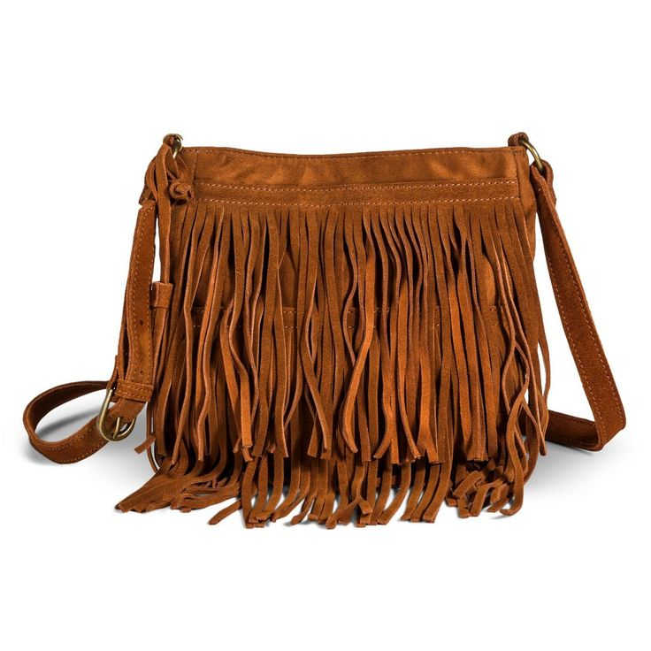Women's Fringe Crossbody Handbag - Brown