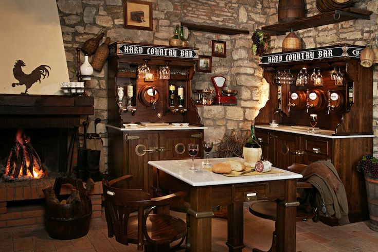 Cucine antiche rustiche cerca con google arredamento - Mobile bar taverna ...