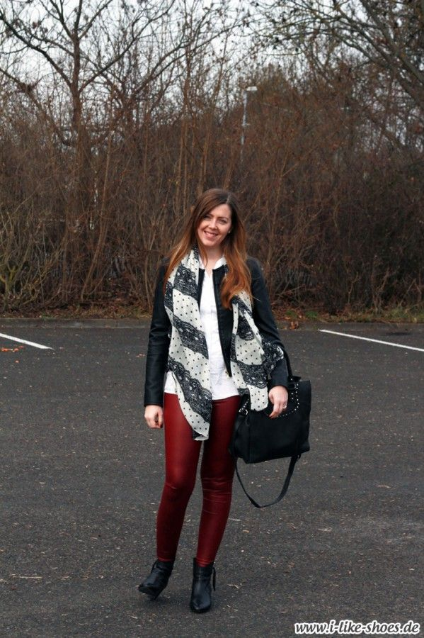 Todays Outfit #302 – Rote Lederhose kombinieren - I like shoes