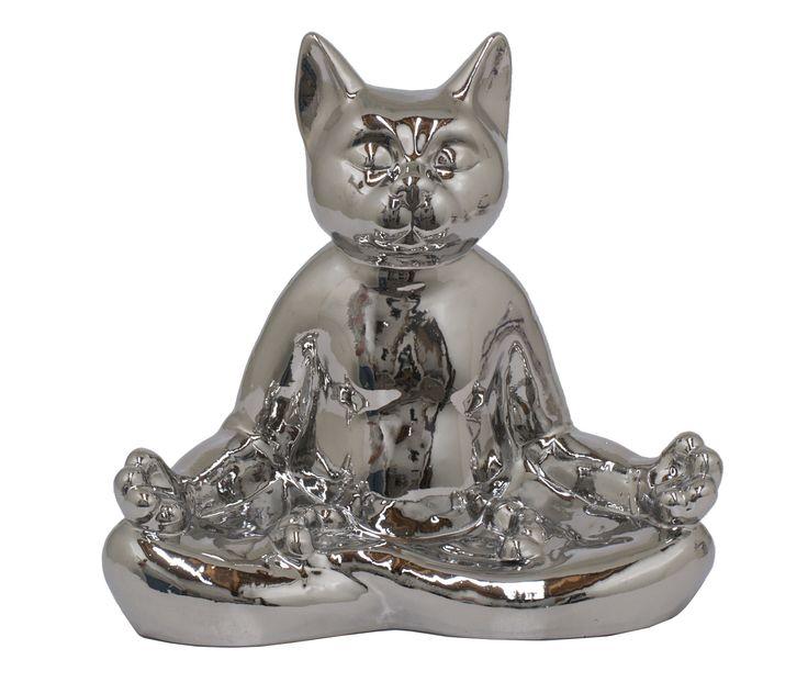 Ceramic Yoga Cat