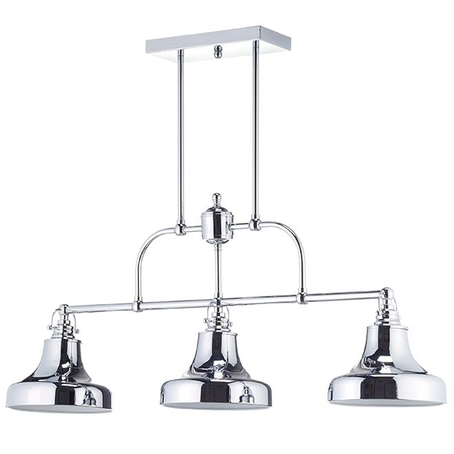 "Suspension 3 lumières McGill de Lumirama │ RONA 149$ │ Article #66905121 Modèle #1891-03-CHR │ 60W 36""x9"""