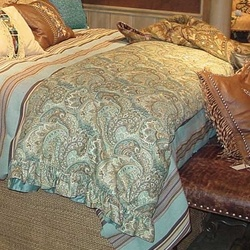 Double D Ranch Bedding   Coordinating Paisley/stripe