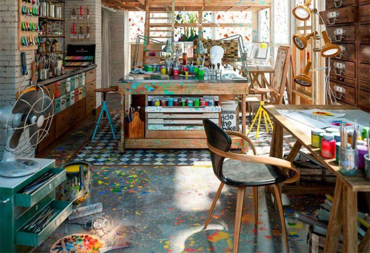 """Schickes Foto eines Künstler-Ateliers, oder? Ne, ist nämlich keines. Dahinter stecken drei Monate """"Nebenbei-Arbeit"""" von Diego Querol. Der 3D-Spezialist aus"""